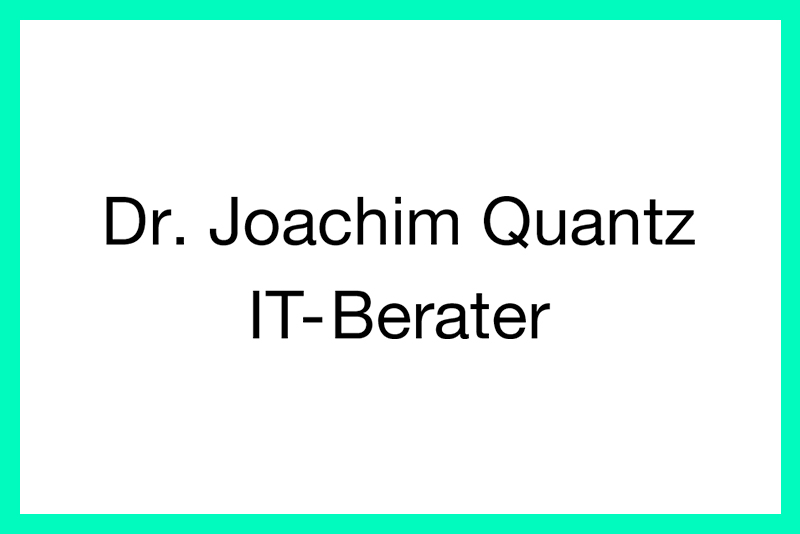 Dr. Joachim Quantz
